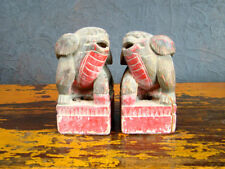 Antik Skulpturen Paar Unikat Asiatika China Asien HuNan Holz - 5042973-62