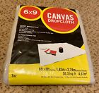 6X9 Foot Heavyweight Canvas Drop Cloth Cover Sheet Washable & Reusable