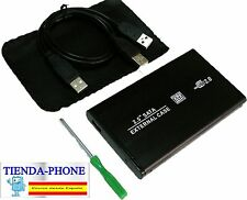 CAJA PARA DISCO DURO EXTERNO DISK CARCASA SATA 2.5'' USB 2.0 FUNDA CUERO HDD PC
