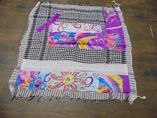 Scarf Arab Arafat Keffiyeh Shemagh Cotton Yasser tassel patchwork purple