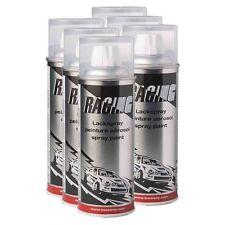 6 x Belton racing laque transparente NC 0,4l Laque spray sprühlack clair