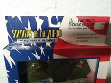 """3 vtg 1996 SOLDIERS OF THE WORLD WW2 12"""" ACTION FIGURE OUTFITS ACCESSORIES USA"""
