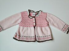 Girls Hanna Andersson Cardigan Sweater size 80 (2) Pink