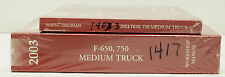 OEM 2003 Ford F-650, F-750 Medium Truck Workshop Manual & Wiring Diagrams