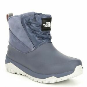 The North Face Women's Ankle Boots Blue Gray Yukiona Waterproof Snow 6 NEW