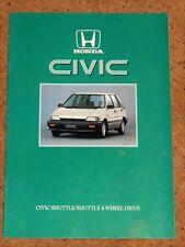 1986 HONDA CIVIC SHUTTLE Sales Brochure - Shuttle 4WD, Shuttle 1.5