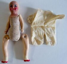 Vintage Composition Doll Unmarked With Outfit Needs Legs Reattached For Repair