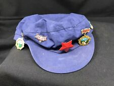More details for vintage chinese communist party hat cap and great wall of china memorial badges
