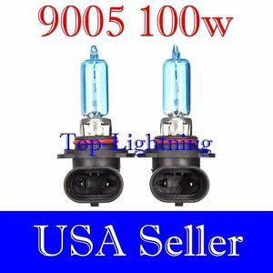9005 HB3 Xenon Halogen Bright White 5000K Headlight Lamp Bulbs #Ga22 High Beam