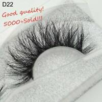SKONHED 3D Mink Hair False Eyelashes Wispy Cross Lashes Fluffy Lashes-Extension