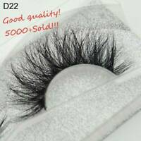 SKONHED 3D Mink Hair False Eyelashes Wispy Cross Lashes Fluffy Lashes-Extension