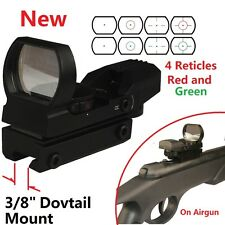 """Red and Green Reflex Sight With 4, 3/8"""" Dovetail Mount Airgun Airsoft .22 Rifle"""