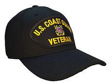 Coast Guard Veteran Hat Black Ball Cap