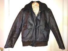 Excelled USA Vintage Black Leather Flight Bomber Jacket Mens 40 Med Made USA