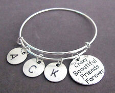 Crazy Beautiful Friends Forever Bangle Bracelet,Best Friends Forever,Bff jewelry