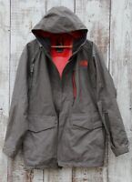 North Face HyVent Men's Sz L Hooded Fall Winter Coat Jacket Olive Green