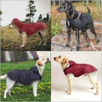 Pet Dog Hooded Rain Reflective Coat Waterproof Rainwear Jacket Puppy Raincoat US