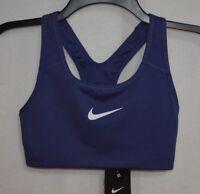 Nike Women's Pro Classic Swoosh Purple DuskWhite Sports Bra (871776-508) Size XS