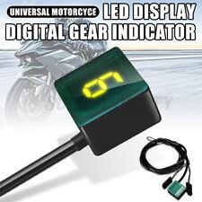Universal LED Digital Gear Indicator Motorcycle Display Shift Lever Sensor US