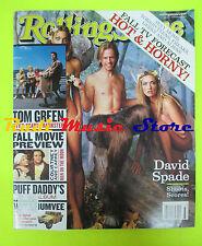 ROLLING STONE USA MAGAZINE 821/1999 Orgy jay Gordon Jay Bakker Tom Green  No cd
