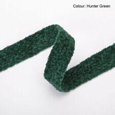 Rubans vert pour loisirs créatifs velours