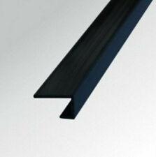 10mm BLACK PVC END CAP TRIM for Shower Wall Panels Wet Wall Cladding Splashpanel