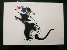 "Banksy Dismaland hand Sprayed ""3D Rat"" & C. O. A"