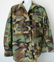 US AIR FORCE CAMO CAMOFLAGE CAMOUFLAGE BUTTON SHIRT Jacket mens M regular