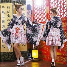 Japanese Kimono Halloween Costume Lolita Anime Maid Cosplay Fancy Dress Uniform