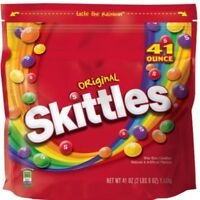 Skittles Original Candy Travel On The Go Resealable LARGE Bag