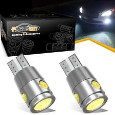 2x White LED License Plate Light Bulbs No Error for Mercedes BMW 168 194 T10