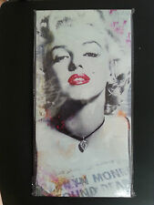 MARILYN MONROE B/W Red Lips 15x30cm Hanging Printed Canvas Gift/Home Wall Decor