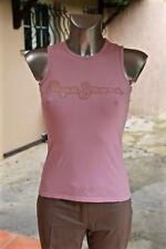 joli tee shirt rose et strass las vegas PEPE JEANS taille XS  EXCELLENT ÉTAT