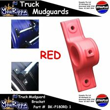 RED PLASTIC TRUCK MUDGUARD HANGER BRACKET KIT KENWORTH MAN VOLVO NEWSEMI TRAILER