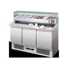 Tavolo frigorifero frigo banco pizzeria cm 140x70x143 RS1969
