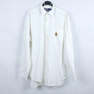 RALPH LAUREN Vintage Mens White Long Sleeve Collared Shirt SIZE Large