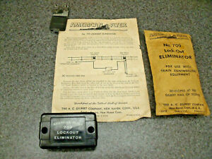 Amer. Flyer 1950's S Gauge #709 Lockout Eliminator Original Pacage & Instructios