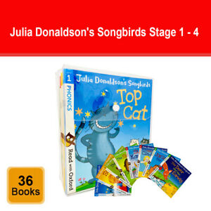 Julia Donaldson's Songbirds Read with Oxford Phonics 36 Books Set (Stage 1 - 4)