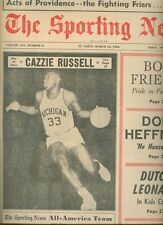 1966 Sporting News MICHIGAN WOLVERINES Cazzie Russell ELVIN HAYES All Americans