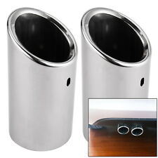 Exhaust Pipe Tip Chrome 2PCS Stainless Steel TRIM For Audi A4  B8 TAILPIPE New