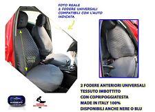 Coprisedili Volvo S60 2010> foderine in cotone imbottito trapuntato grigio per 2