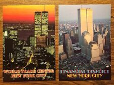 Lot of TWO (2) VINTAGE New York City Postcards World Trade Center -UNUSED, MINT!