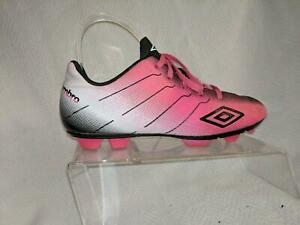 Umbro Girls Arturo Pink Ombre Synthetic Leather Soccer Cleat Shoes Youth Size 5