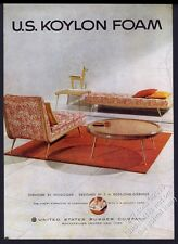 1953 Robsjohn-Gibbings modern table chaise chair photo Koylon vintage print ad