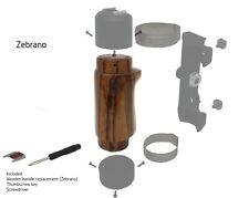 Replacement Wooden Handle For Pentax 6x7/67/67II Left Hand Grip [Zebrano Wood]