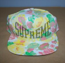Supreme Floral 5 Panel White Hat SS18 Never Worn Brand New 100% AUTHENTIC