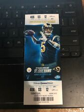 2015 ST LOUIS RAMS VS PITTSBURGH STEELERS TICKET STUB 9/27 TODD GURLEY DEBUT