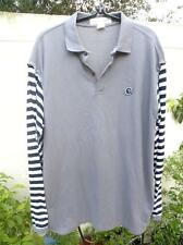COMME DES GARCONS JUNYA WATANABE MANS CANDY STRIPED SLEEVED GRAY POLO SHIRT X