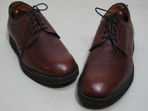 Alden Shoes Plain Toe Blucher Oxfords 10.5D Burgundy Grain 312 Foot Balance
