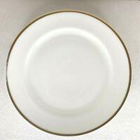 haviland france limoges set of 4 dinner plates white gold trimmed very used